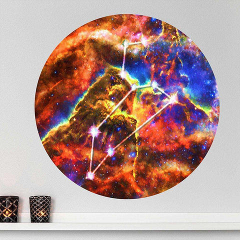 LEO Sun Sign Wall Decal Zodiac Horoscope Astrology Symbol