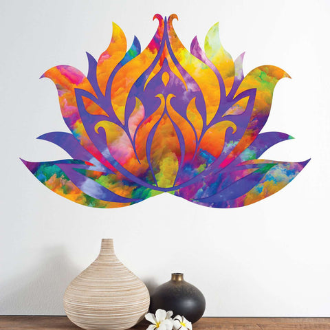 Watercolor Lotus Waterlily Wall Decal