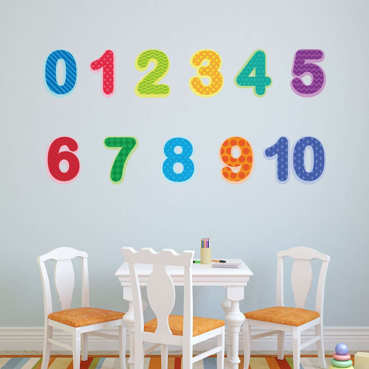 classic nursery theme wall stickers decals preschool number decals 0 10 baby and toddler number wall stickers