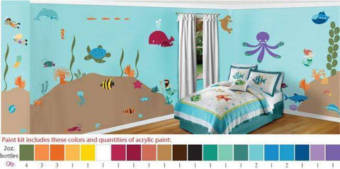 Under The Sea Stencil Paint Kit