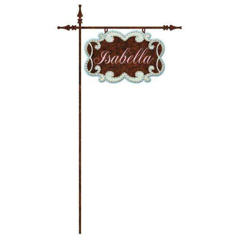 Personalized Ornate Garden Sign Wall Sticker