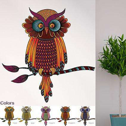 Owl Theme Wall Mural Stickers, Decals & Stencils