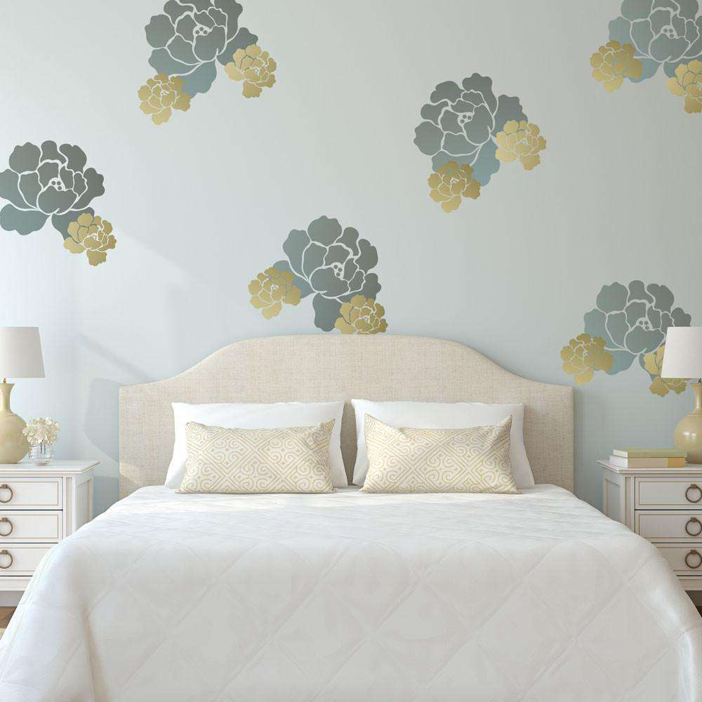 wall stickers roses wall stickers roses english rose stencil painting a rose