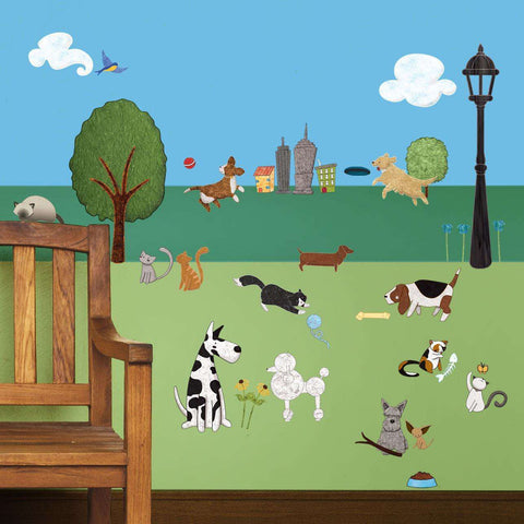 Cat and Dog Wall Sticker Kit