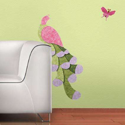 Peacock and Butterfly Wall Stickers