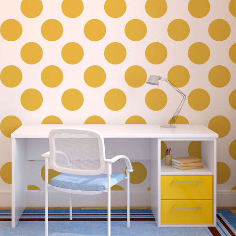 Polka Dot Pattern Wall Stencil