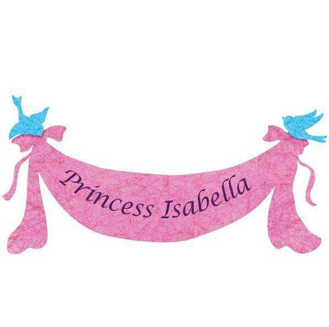 princess banner wall sticker
