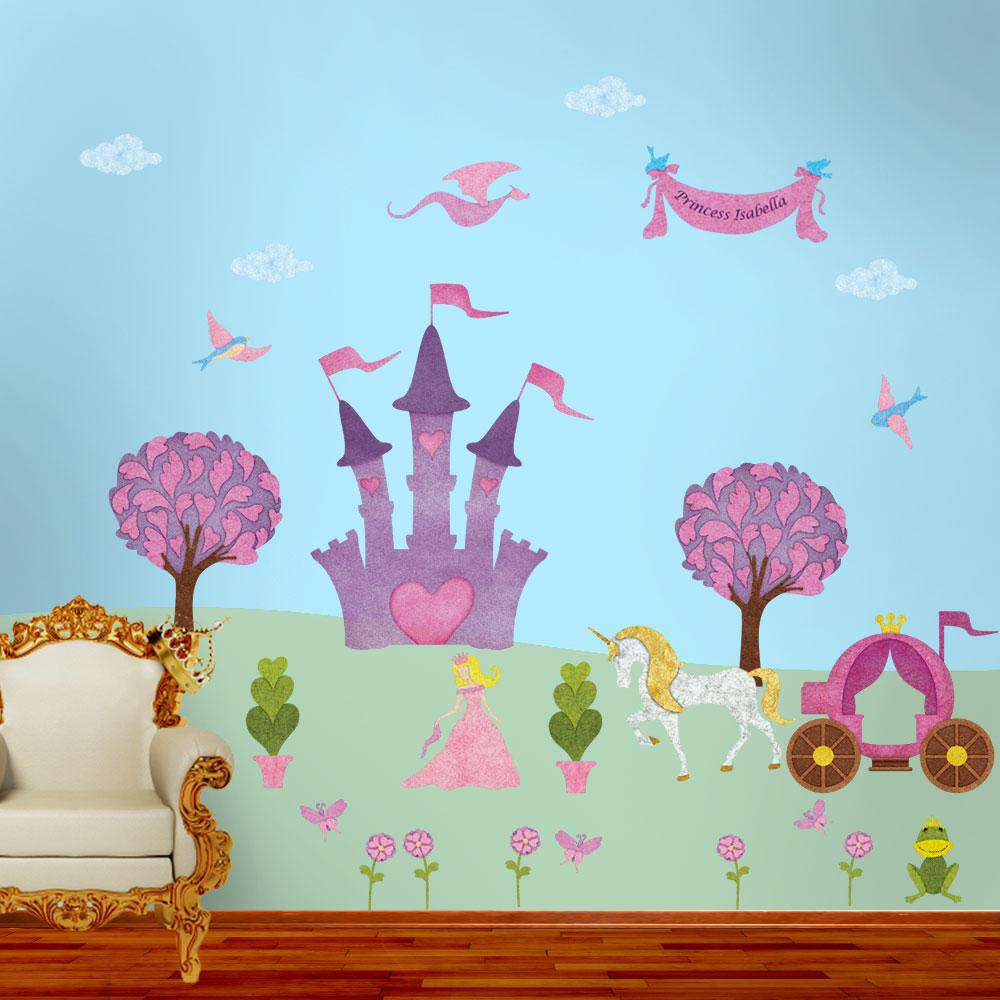 Perfectly Princess Wall Sticker Kit   Princess Decals For Girls Princess  Theme Room ...