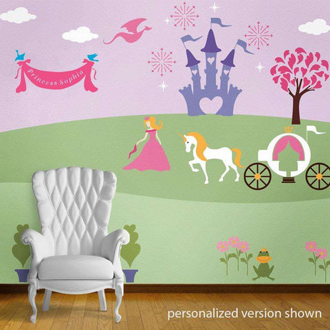 Perfectly Princess Bedroom Wall Mural Stencil Kit Part 41