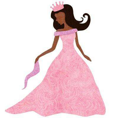 Princess Wall Sticker (Dark Skin and Hair)
