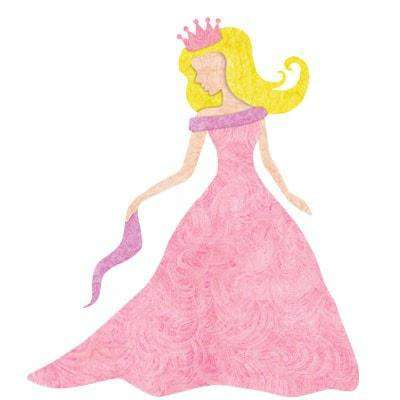 Princess Wall Sticker (Fair/Blonde)