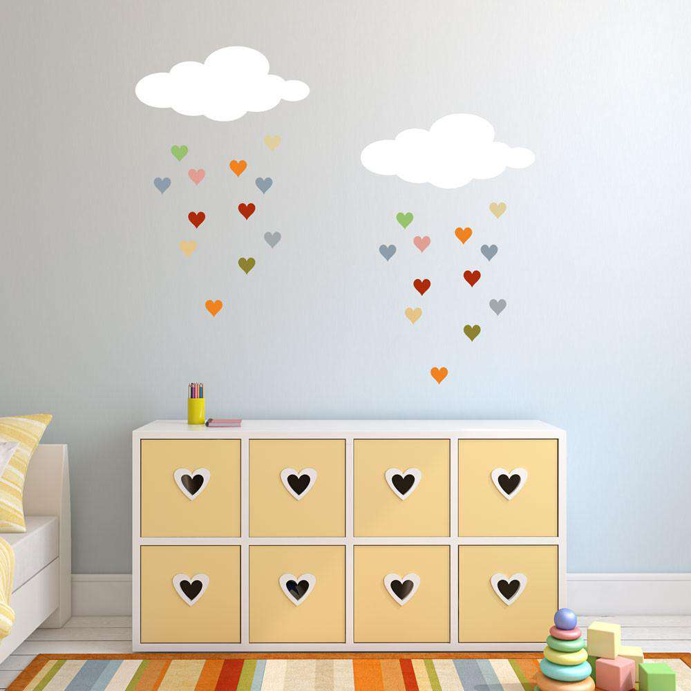 Raining Hearts Cloud And Heart Stencil Set