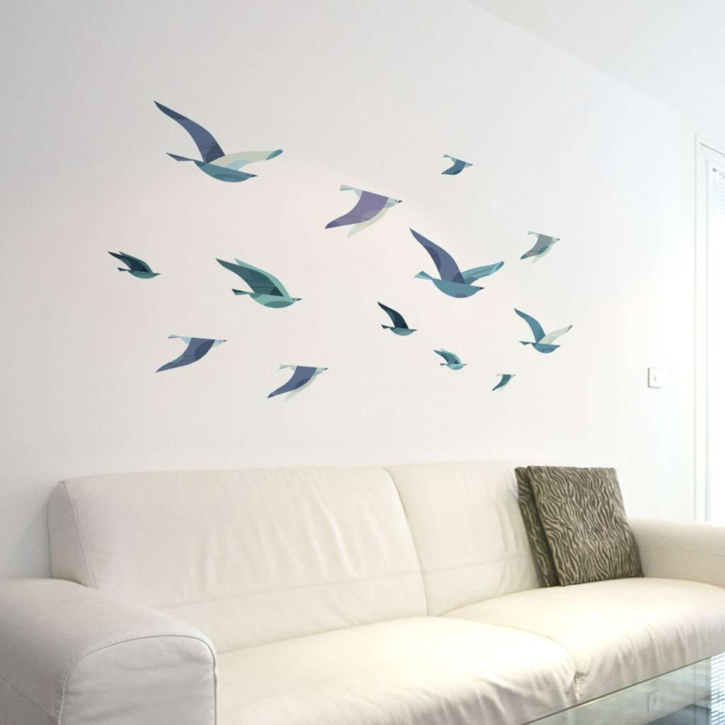 Birds wall sticker images home wall decoration ideas flock of sea birds wall decals my wonderful walls sea gull bird wall stickers amipublicfo images amipublicfo Gallery