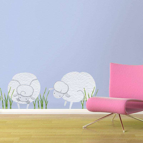 Sheepish Friends Wall Stickers