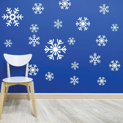 Snowflake Decal Sticker Variety Pack - Winter Holiday Decor