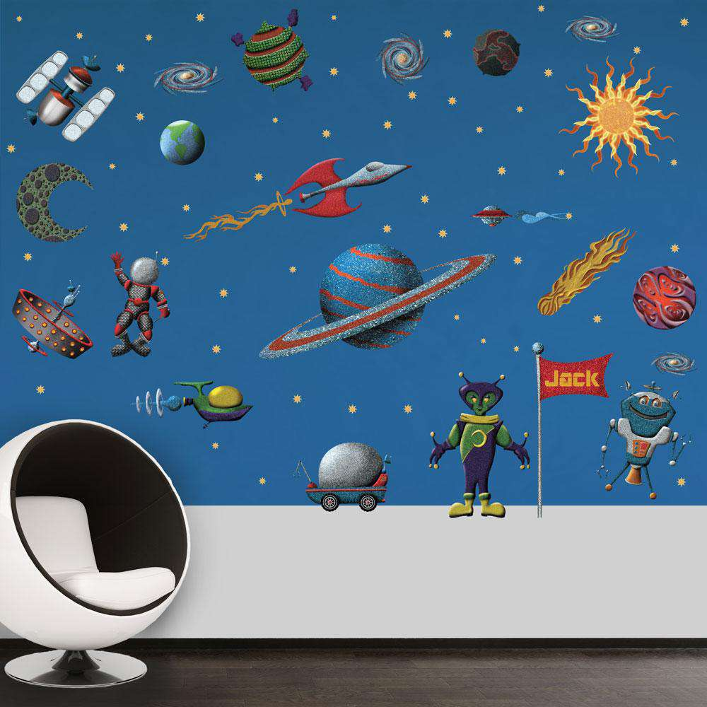 Design Outer Space Wall Decals space wall sticker kit