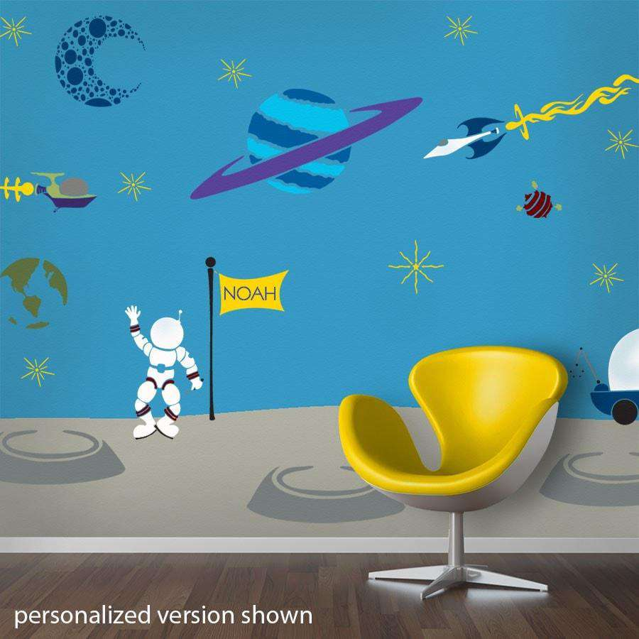 Outrageous Space Wall Mural Stencil Kit