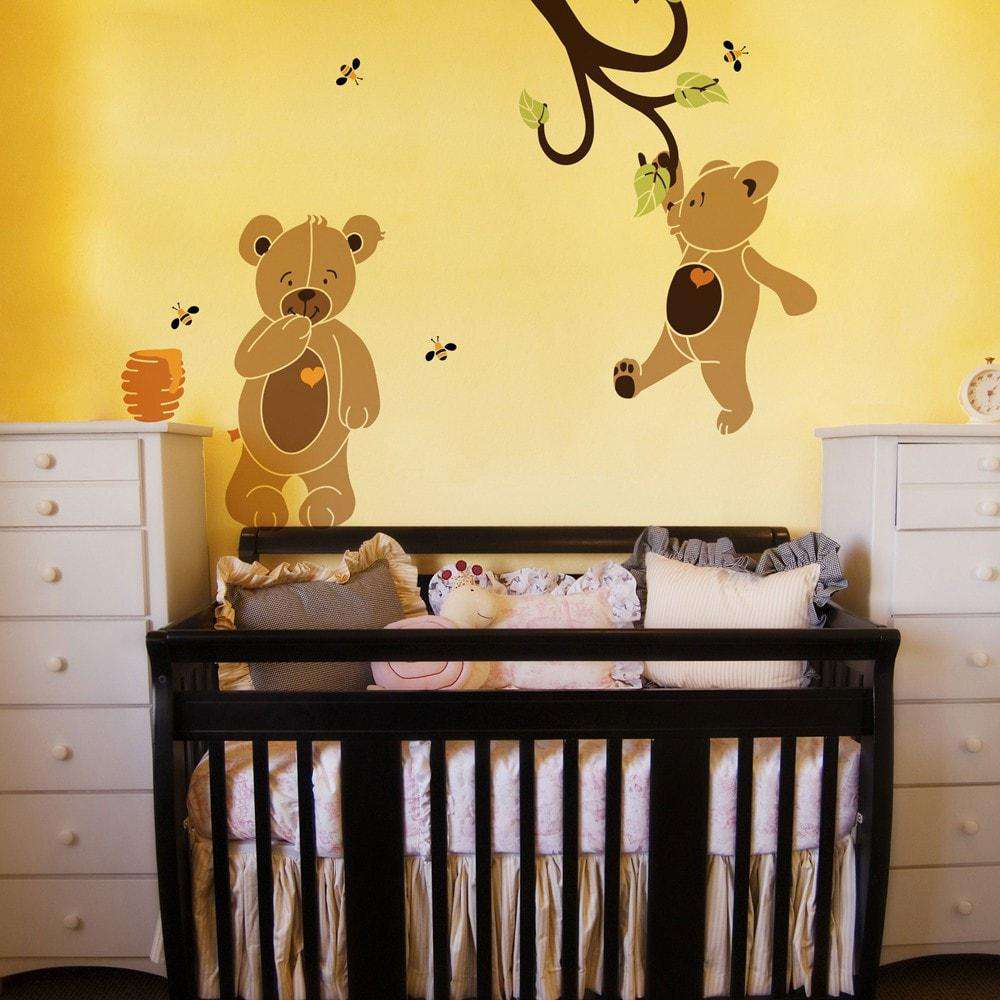 Teddy bear wall stencil kit amipublicfo Images