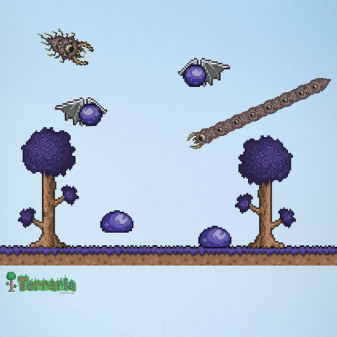 Terraria Corruption Biome Add-on Wall Decal Set