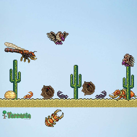 Terraria Desert Biome Add-on Wall Decal Set