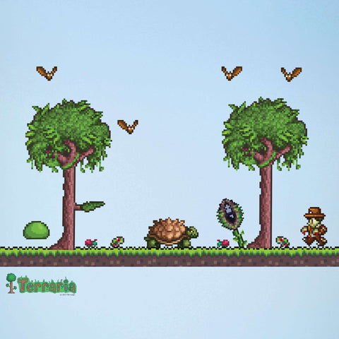 Terraria Jungle Biome Add-on Wall Decal Set