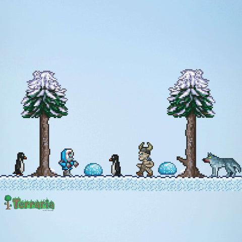 Terraria Snow Biome Add-on Wall Decal Set
