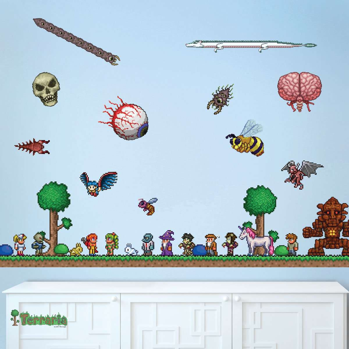 Terraria wall decal set party decorations video game background terraria wall decal set amipublicfo Gallery