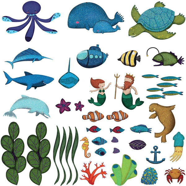 Ocean Wall Decals Peel Amp Stick Under The Sea Wall