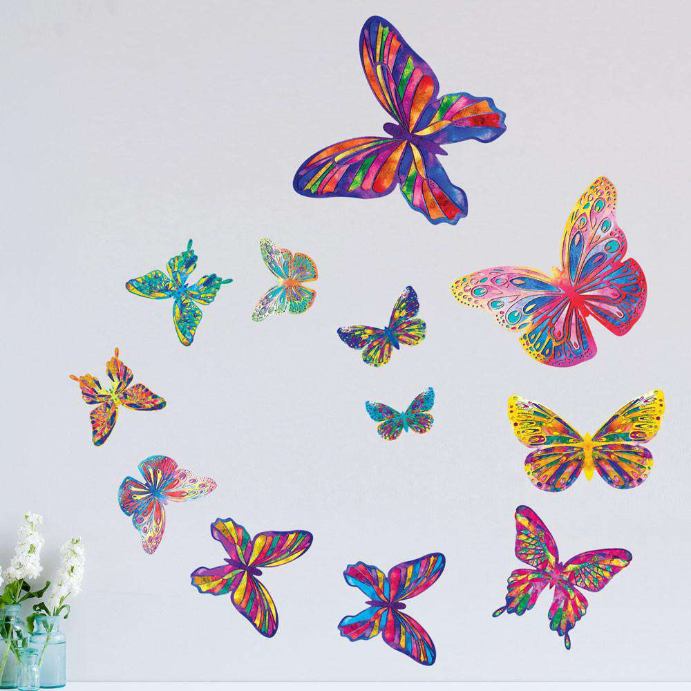 Set Of 12 Butterfly Wall Stickers ...