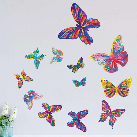Set of 12 Butterfly Wall Stickers