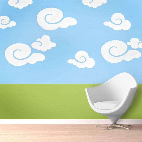 cloud wall painting