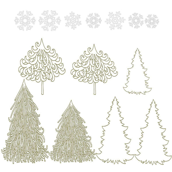 Completely new Winter Wonderland Decal Set - Holiday Wall Decor Stickers - Snowflakes TE28