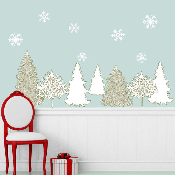 Winter Wonderland Decal Set Holiday Wall Decor Stickers