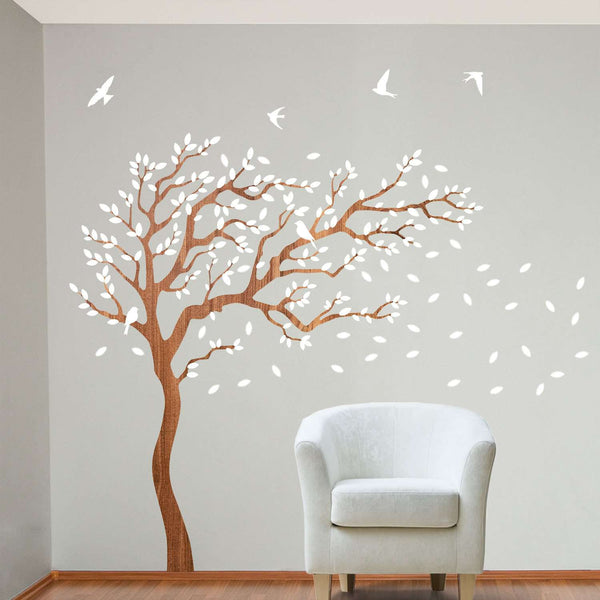 Painting Walls With Branches And Leaves