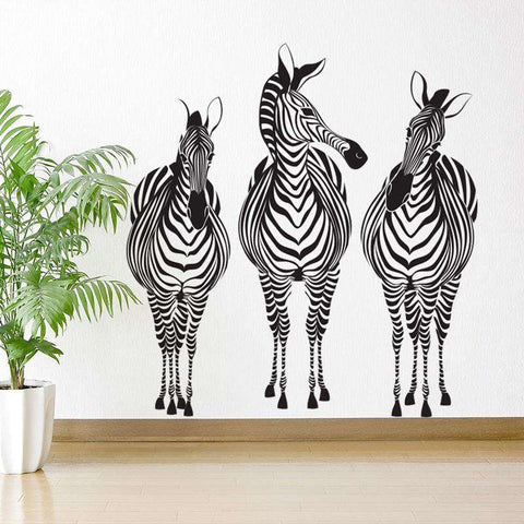 Zebra Trio Wall Stickers Part 63