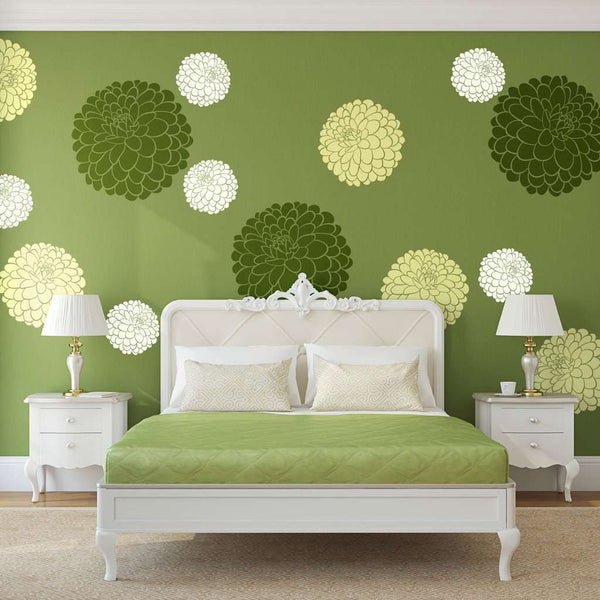 Decorating Your Home With Zinnia Flower Stencils and More