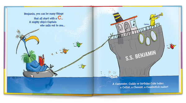 ABC-What I Can Be Personalized Story Book