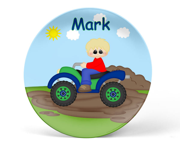 ATV 4-Wheeler Boy Kids Plate