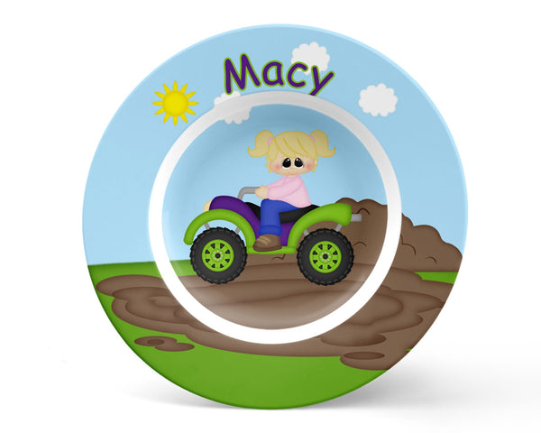 ATV 4-Wheeler Girl Kids Bowl