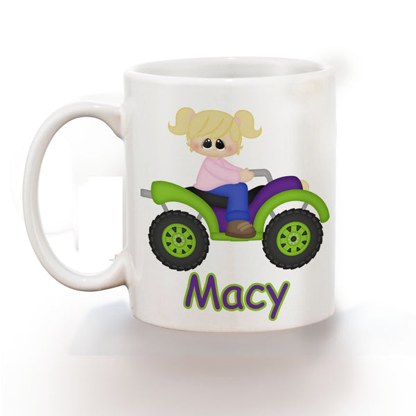 ATV 4-Wheeler Girl Kids Mug