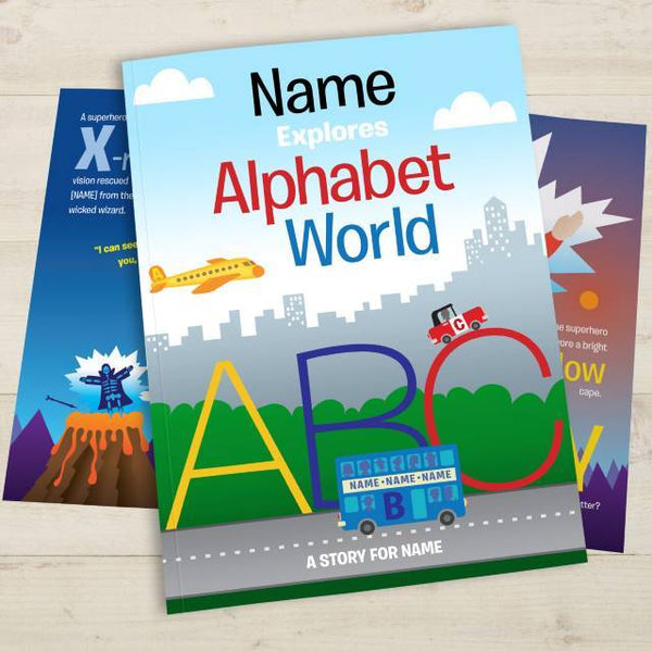 Personalized Alphabet World Book