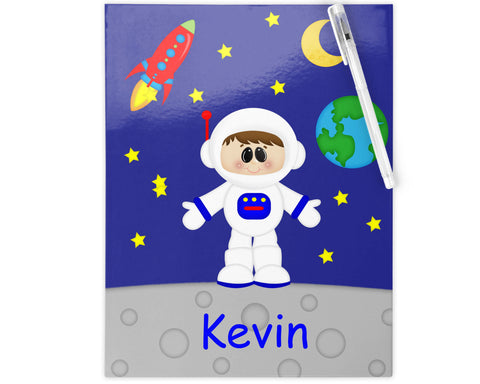 Space Astronaut Boy Kids Folder