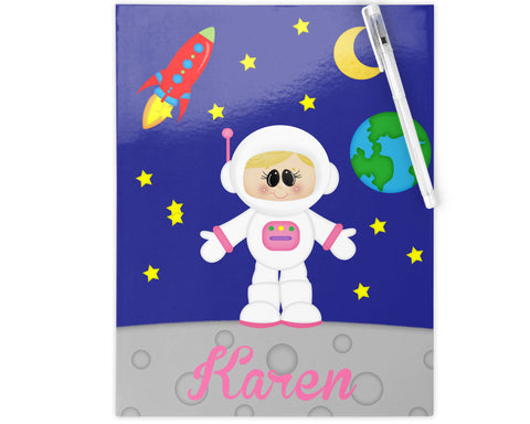 Space Astronaut Girl Kids Folder