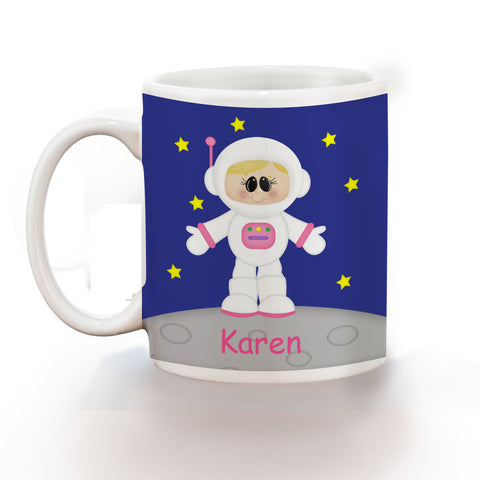Space Astronaut Girl Kids Mug