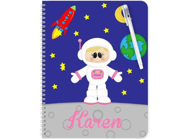 Space Astronaut Girl Kids Pencil Case