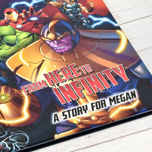 Avengers Beginnings from Here to Infinity Personalized Marvel Story Book