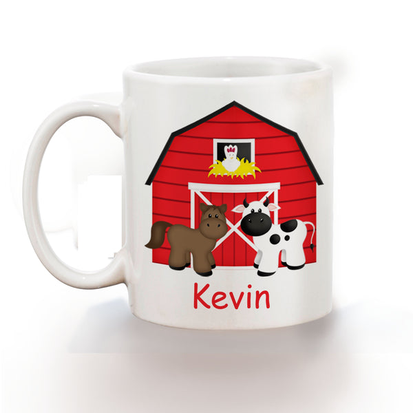 Barn Yard Red Kids Mug