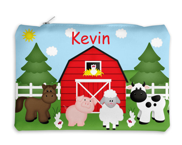 Barn Yard Red Kids Pencil Case