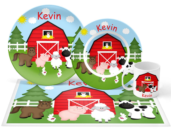 Barn Yard Red Kids Placemat