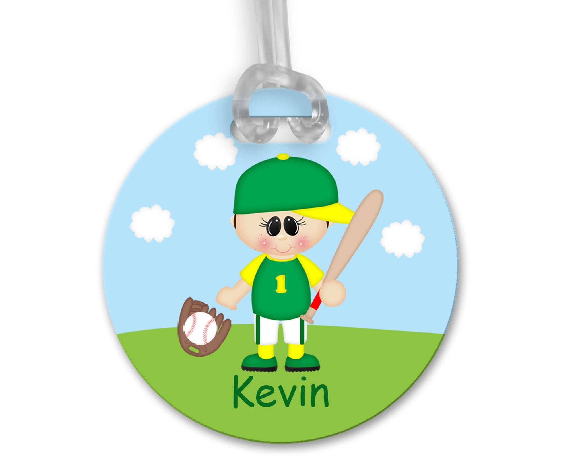 Baseball Boy Bag Tag